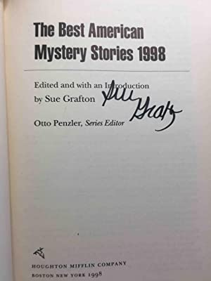THE BEST AMERICAN MYSTERY STORIES 1998.: Anthology, signed] Grafton, Sue, editor; Penzler, Otto, ...