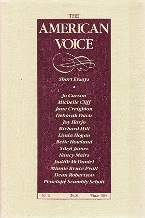 THE AMERICAN VOICE, NO. 17, Winter 1989.: Harjo, Joy, signed;