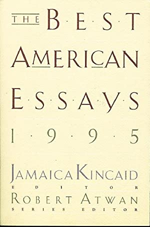 THE BEST AMERICAN ESSAYS 1995.: Wolff, Tobias, signed;