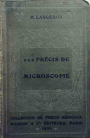 Précis de microscopie - M. Langeron: M. Langeron