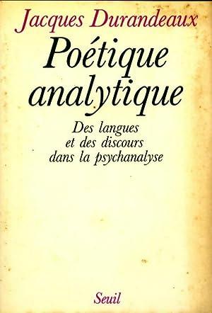 Poétique analytique : Des langues et des: Jacques Durandeaux