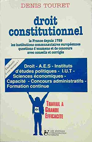 Droit constitutionnel - Denis Touret