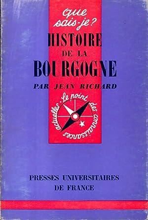Histoire de la Bourgogne - Jacques Richard: Jacques Richard