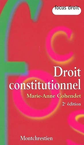 Droit constitutionnel - Marie-Anne Cohendet