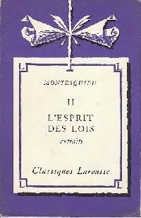 L'esprit des lois (extraits) - Montesquieu: Montesquieu