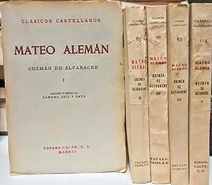 Mateo Aleman (Volumes 1-5, Complete): Guzman, Alfarache De