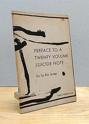 Preface to a Twenty Volume Suicide Note.: LeRoi Jones (Amiri