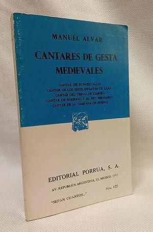 Cantares de Gesta Medievales (Spanish Edition): Alvar, Manuel