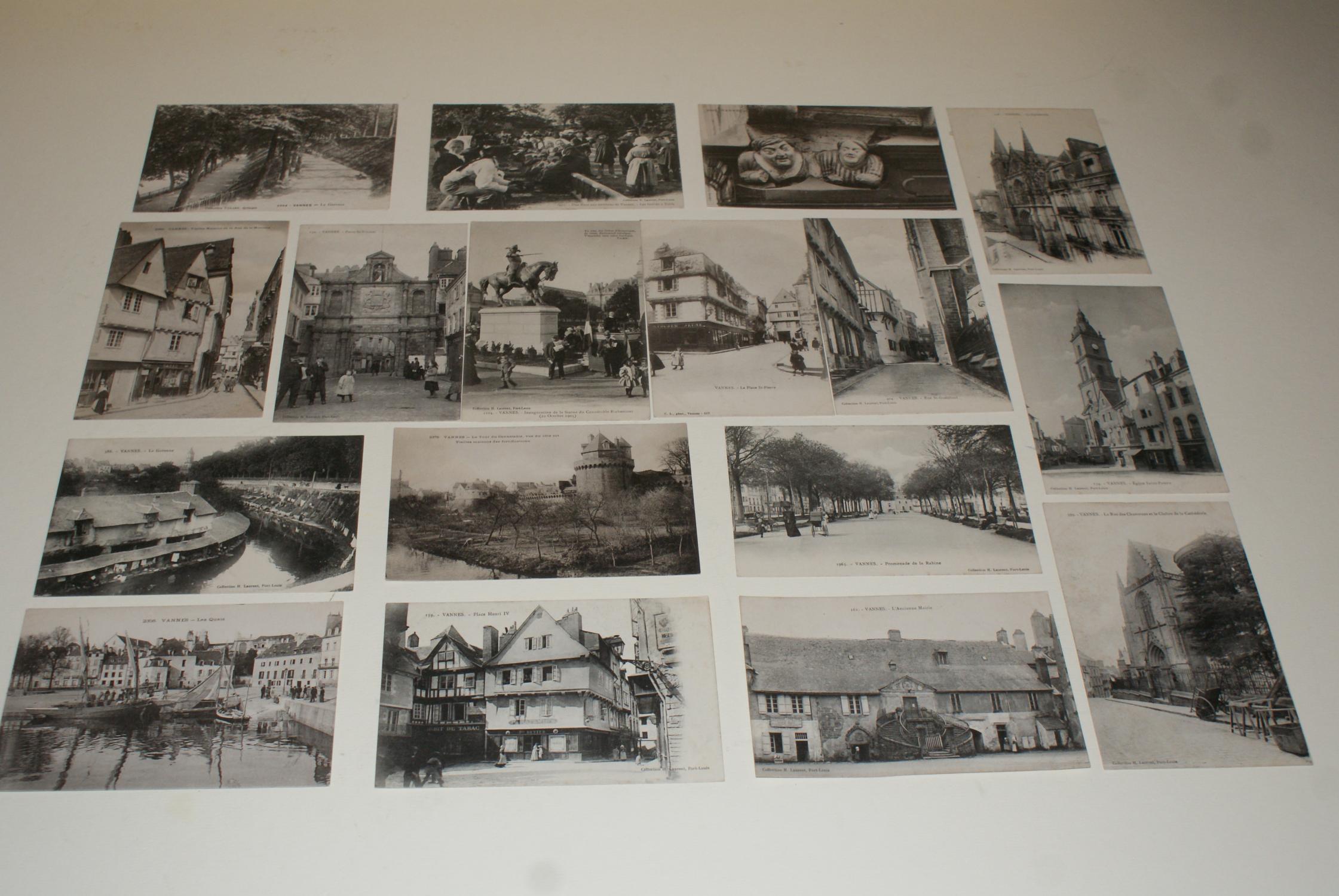 Lot de 17 cartes postales anciennes de vannes morbihan c p a en tr s bo - Presse ancienne morbihan ...