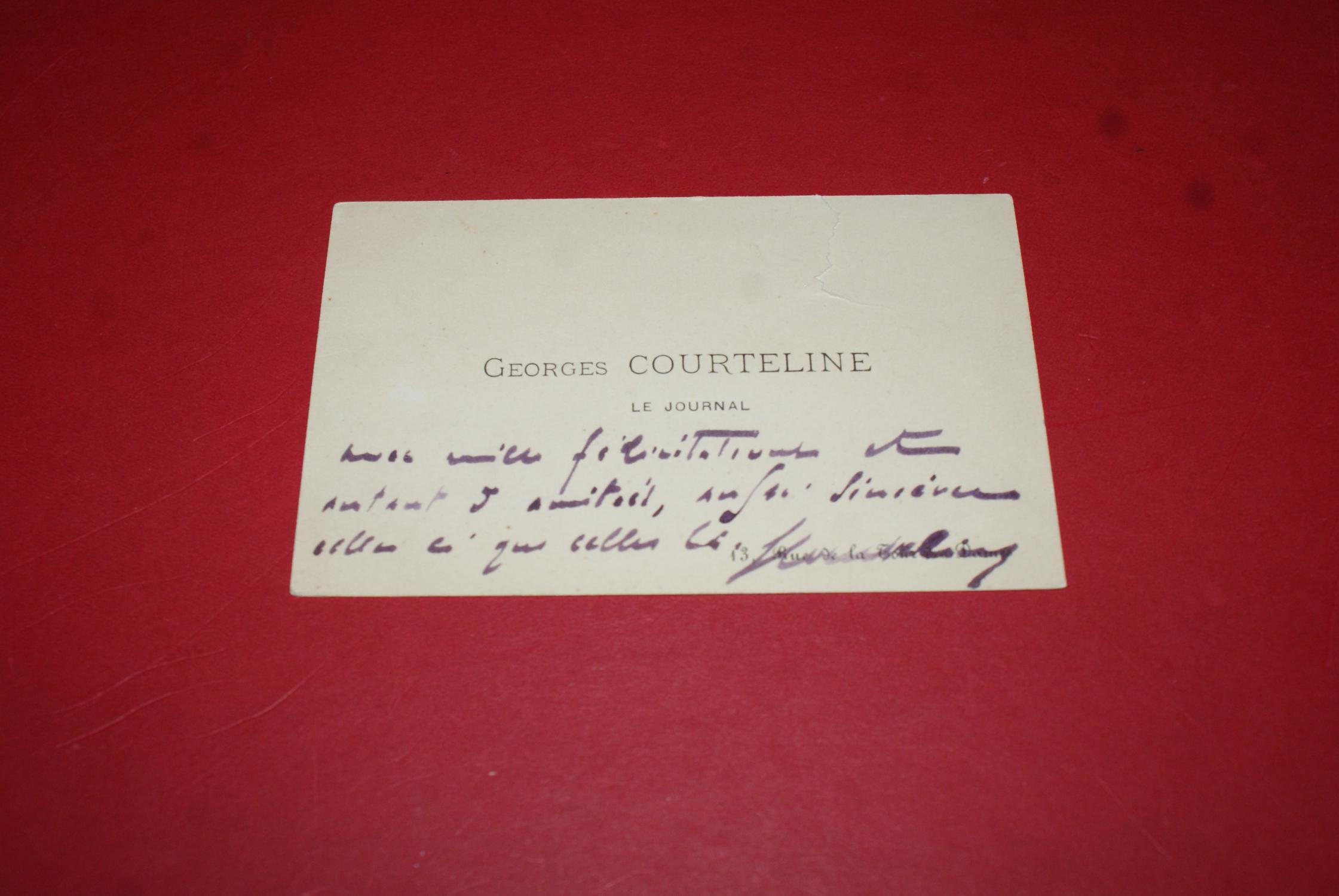 Mot Manuscrit Signe De Georges Courteline