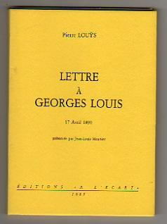 Lettre à Georges Louis. 17 Avril 1890.