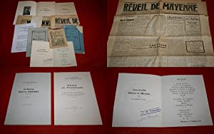 LOT Martial MORISSET & Jane CARDOT : 9 Brochures et Documents. Bulletins de la distribution des p...