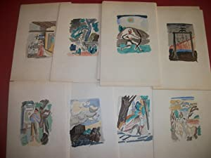 Suite de 46 Aquarelles de [Aizik dit Adolphe] Féder pour illustrer les Œuvres de Arthur ...