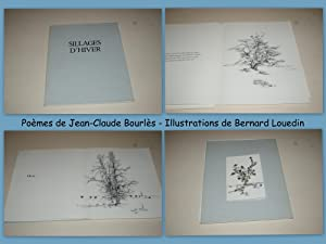 Sillages d'Hiver. Poèmes de Jean-Claude Bourlès. Illustrations: BOURLÈS Jean-Claude. Illustré