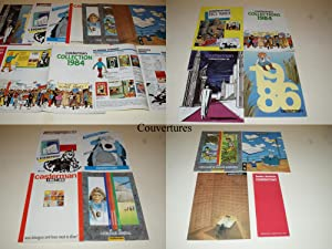 12 CATALOGUES CASTERMAN - 1983 - 1984 - 1985 - 1986 - 1987 - 1988 - 1989 - 1990 - 1991 - HERGÉ - ...