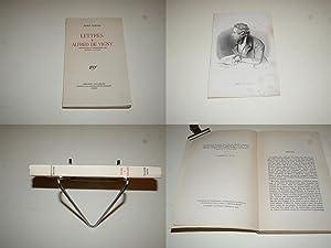 Lettres à Alfred de Vigny. Par Marie: DORVAL Marie. [VIGNY
