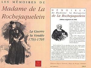 MÉMOIRES DE MADAME LA MARQUISE DE LA: LA ROCHEJAQUELEIN Mme