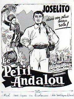 "JOSELITO, L'ENFANT A LA VOIX D'OR ""LE PETIT ANDALOU"". DESSIN ORIGINAL A L'..."