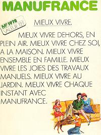 Catalogue Manufrance 1978.