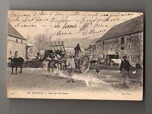 Carte Postale Ancienne. En Beauce - Intérieur de Ferme. 1900.