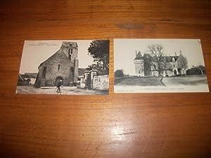 Épineux-le-Séguin - Deux Cartes Postales Anciennes - Place de l'Église - Ch&...