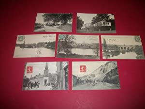 Villiers-Charlemagne (Mayenne). 6 Cartes Postales Anciennes (vers 1900) + 1 C.P.S.M. (vers 1950)....