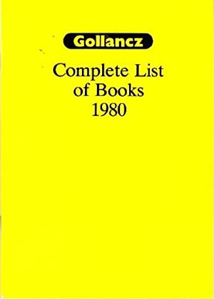 Gollancz : Complete List of Books 1980