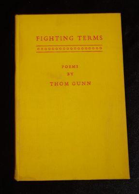FIGHTING TERMS: Thom Gunn