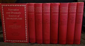 NARRATIVE AND DRAMATIC SOURCES OF SHAKESPEARE (Eight Volumes Complete): Edited by Geoffrey Bullough