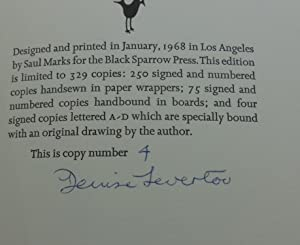 A TREE TELLING OF ORPHEUS (SIGNED): Denise Levertov