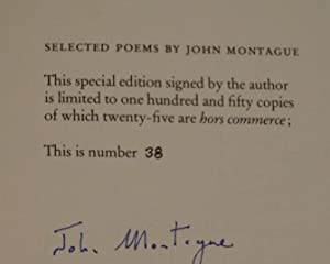 SELECTED POEMS (Limited Edition 150 Copies): John Montague