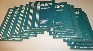 THE OBJECTIVIST 1970 (Twelve Vols.): Ayn Rand, Editor