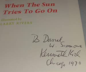 WHEN THE SUN TRIES TO GO ON: Kenneth Koch