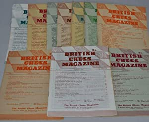 BRITISH CHESS MAGAZINE (11 Volumes) Volume LXXXVI to LXXXVI