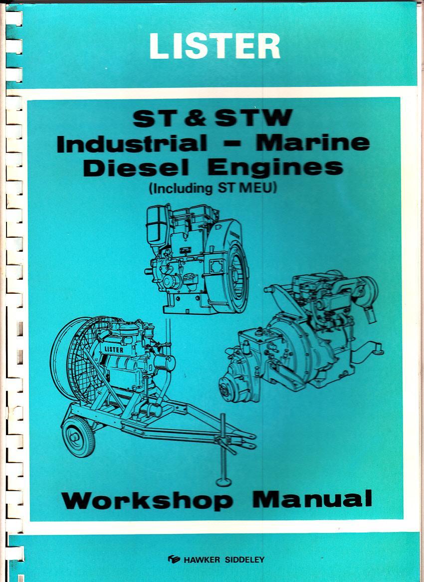 LISTER ST & STW INDUSTRIAL-MARINE DIESEL ENGINES (including ST MEU): Lister  ...