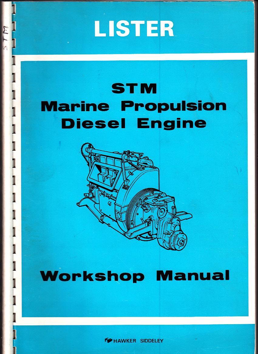 lister stm marine propulsion diesel engine  1 2 3 cylinder   workshop manual  by lister petter