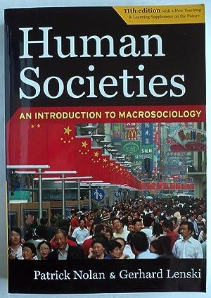 Human Societies : An Introduction to Macrosociology (11th edition paperback): Lenski, Gerhard; ...