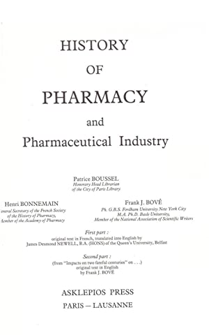 History of Pharmacy and the Pharmaceutical Industry: Boussel, Patrice