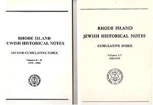 Rhode Island Jewish Historical Society NOTES Index Vol I-11 1954-1994 [2 volumes]: Goldowsky, ...