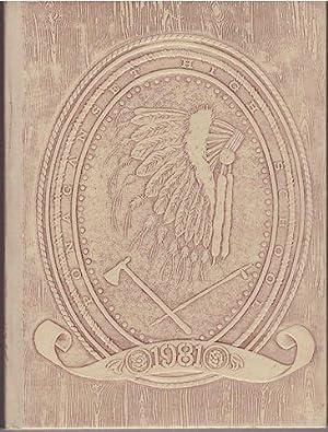 1981 Ponaganset High School Tomahawk Yearbook Foster-Glocester Rhode Island RI: Yearbook Staf