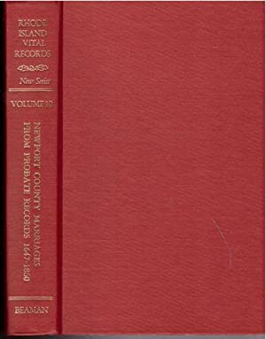 Rhode Island Vital Records, New Series, Volume 10 - Newport County, Rhode Island Marriages from ...