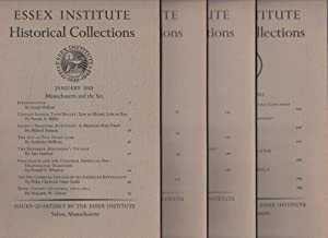 Essex Institute Historical Collections, 1983 Complete vol 1 - 4, Salem, Massachusetts MA: Louise M ...
