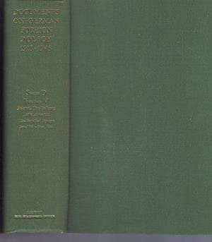 Documents on German Foreign Policy 1918-1945 Series D (1937-1945) Vol V Poland; The Balkans; Lati...