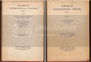 Survey of International Affairs 1925 Vol I & 2 Complete [Islamic World Since the Peace Settlement...