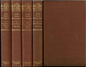 The Adams Papers Adams Family Correspondence 1761-1782 Complete 4 Volume Set by L.H. Butterfield ...