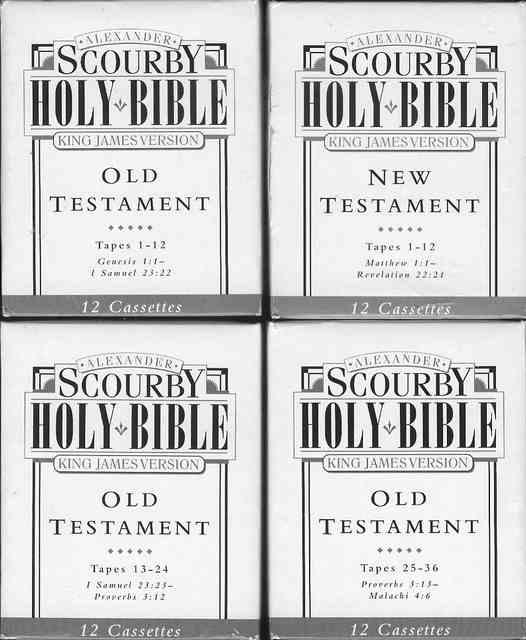 Alexander Scourby Holy Bible (King James Version) by Scourby
