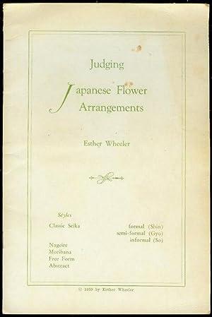 Judging Japanese Flower Arrangements: Wheeler, Esther
