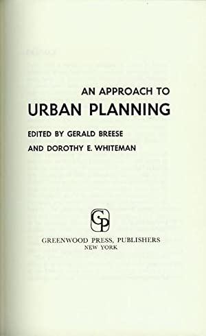 An Approach to Urban Planning