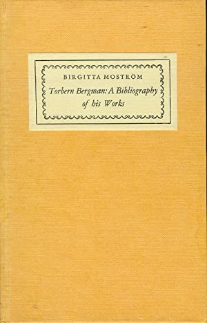 Torbern Bergman: A Bibliography of His Works