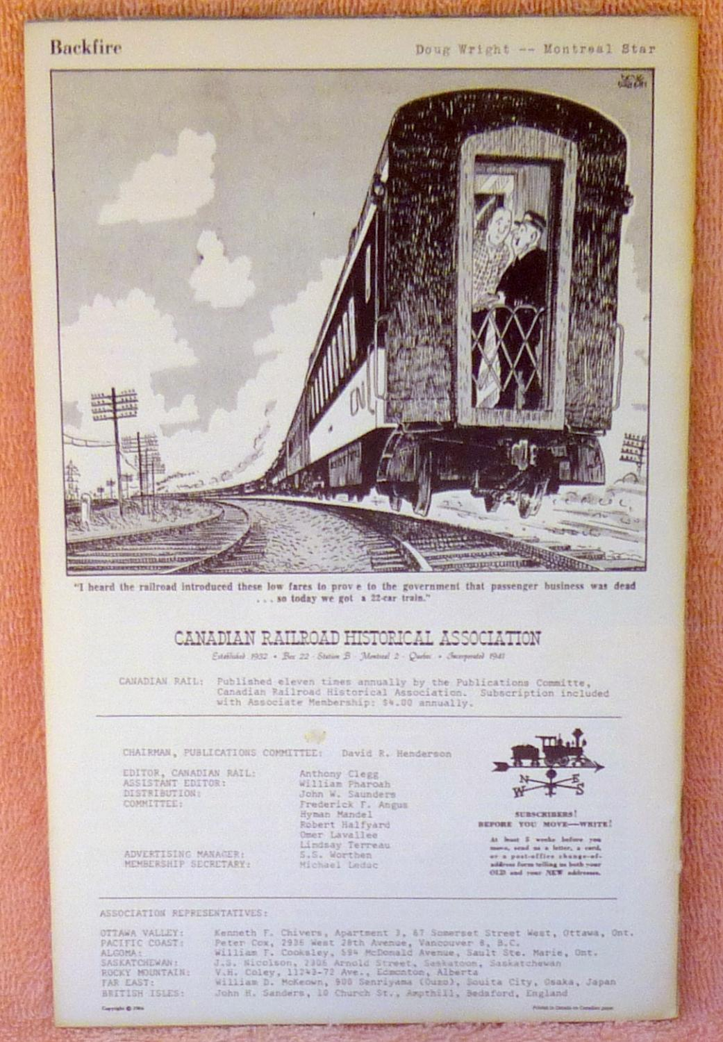 Canadian Rail Number 162 January 1965